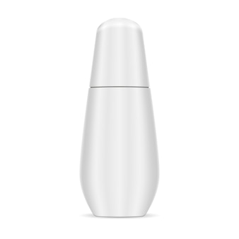 Cosmetic essence botlle white color. smooth design