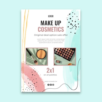 Cosmetic flyer vertical template