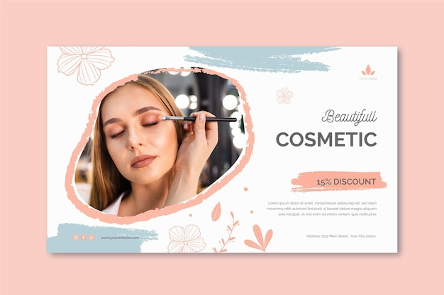 Cosmetic horizontal banner template