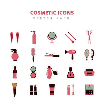 Cosmetic icons vector pack