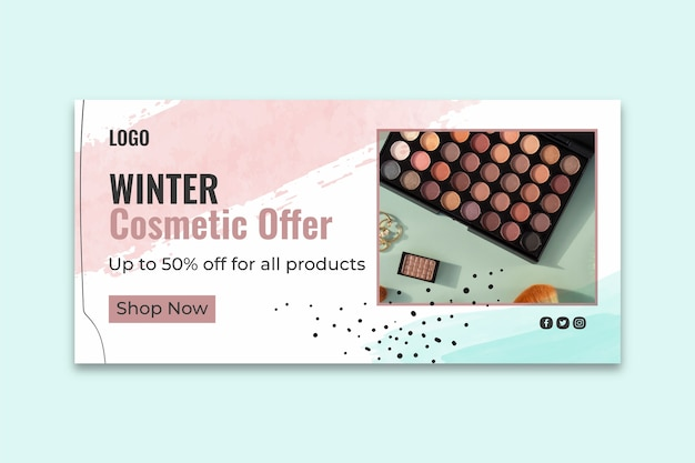 Cosmetic instagram banner template