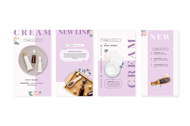Cosmetic instagram stories collection