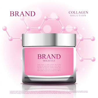 Cosmetic jar reduce aging with molecule packging