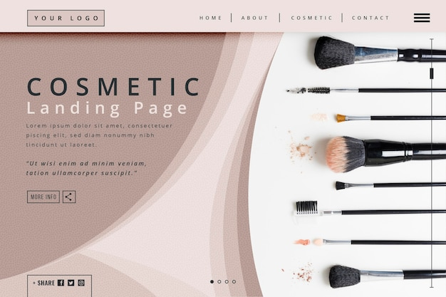 Cosmetic landing page template