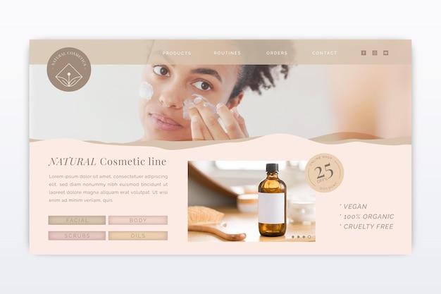 Modello di pagina di destinazione cosmetica