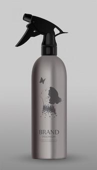 Cosmetic metal spray