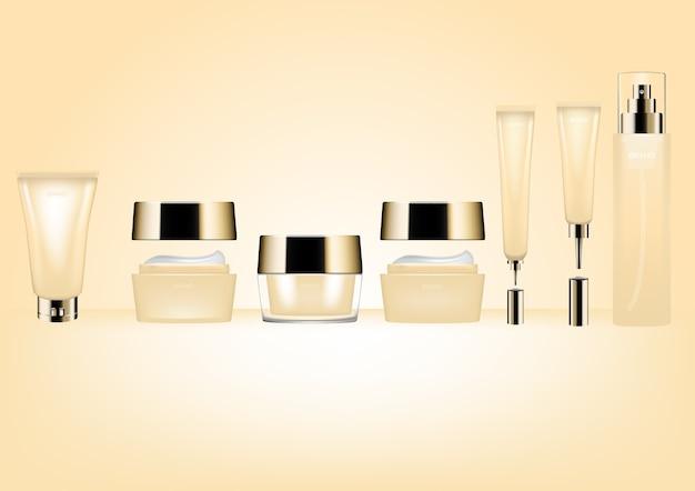 Cosmetic mockup beige color