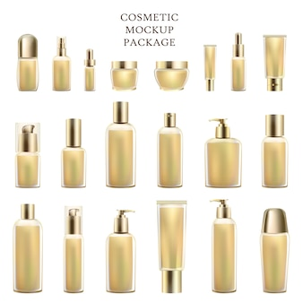 Cosmetic mockup package set of luxury products