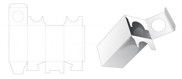 Cosmetic packaging die cut template design Premium Vector
