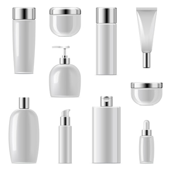 Cosmetic packaging icons set 2