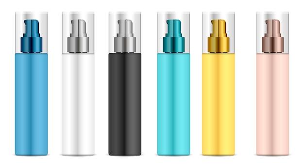 Cosmetic plastic bottle dispenser pump.
