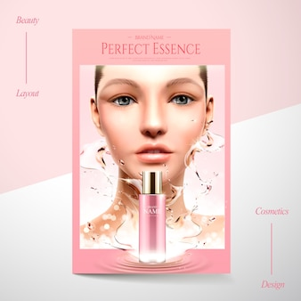 Cosmetic poster ads illustration