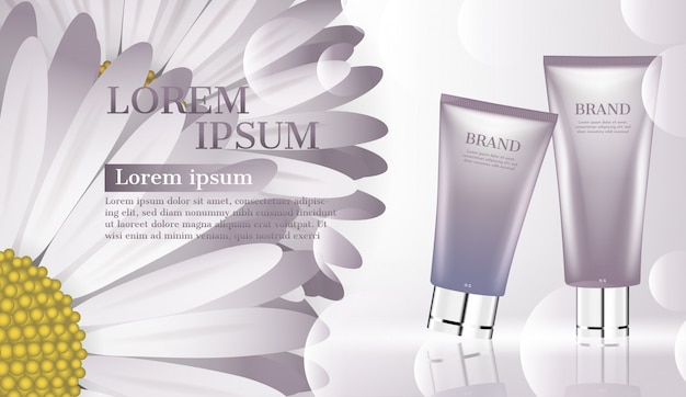 Cosmetic product ad, moisturizer for face