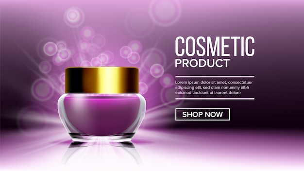 Cosmetic product  background template