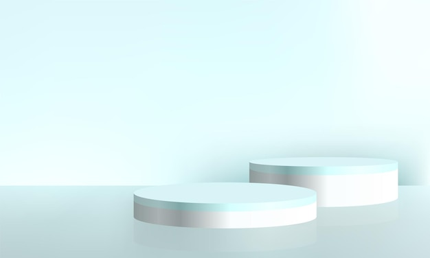 Cosmetic product presentation background abstract minimal scene mockup
