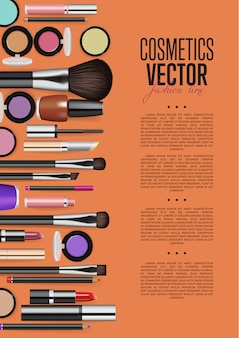 化粧品プロモーションパンフレットページベクトルレイアウト