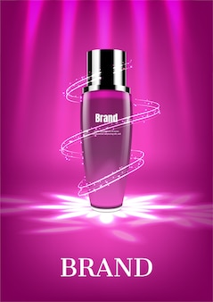 Cosmetic product with spiral light