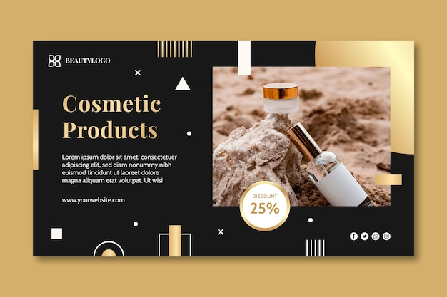 Cosmetic products banner template