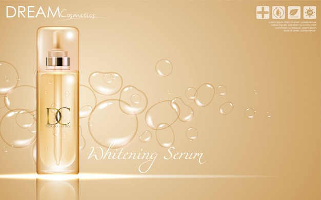 Cosmetic serum skin care cream packaging