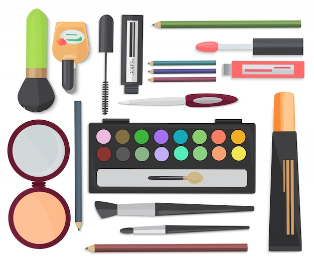 Cosmetic set isolated on a white background