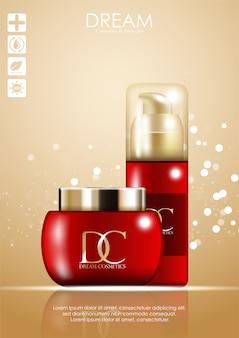 Cosmetic skin care cream packaging