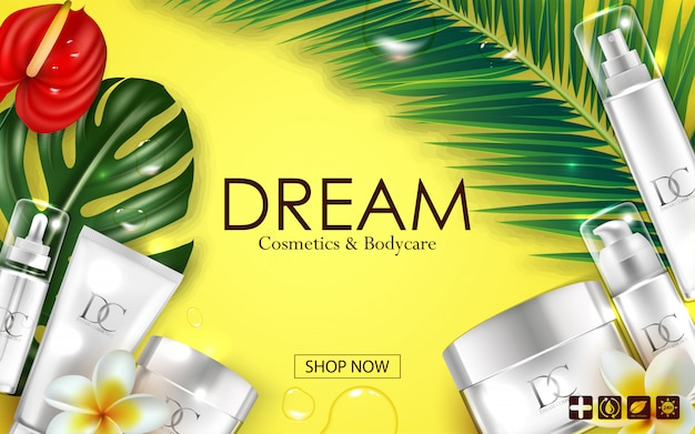 Cosmetic skin care cream packaging