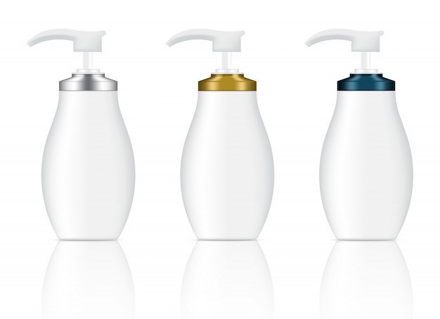 Бутылки косметического мыла геля