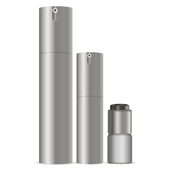 Cosmetic spray can set. dispenser containers