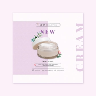 Cosmetic square flyer template