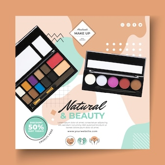 Cosmetic squared flyer template