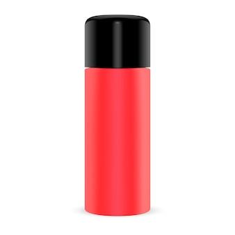 Cosmetic tin for dry powder shampoo. aerosol spray