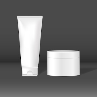 Cosmetic tube and jar mockups