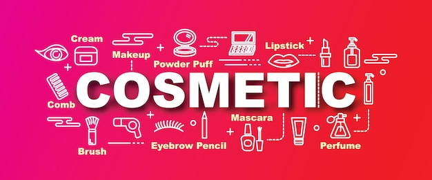 Cosmetic vector trendy banner