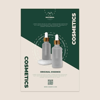 Cosmetic vertical flyer template