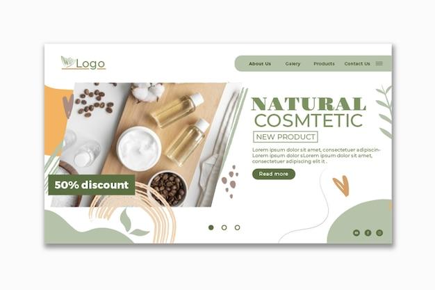 Modello web cosmetico con foto
