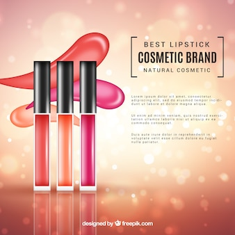 Cosmetics background with realistic style