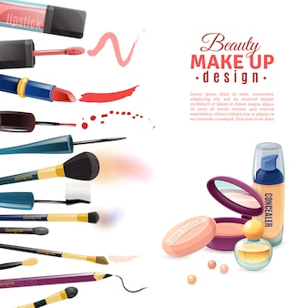 Cosmetics beauty poster
