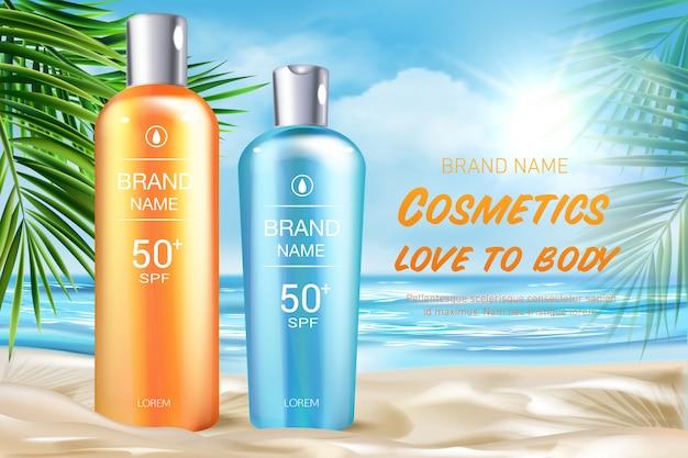 Cosmetics to body advertising