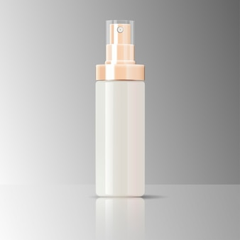 Cosmetics bottle sprayer container glossy glass
