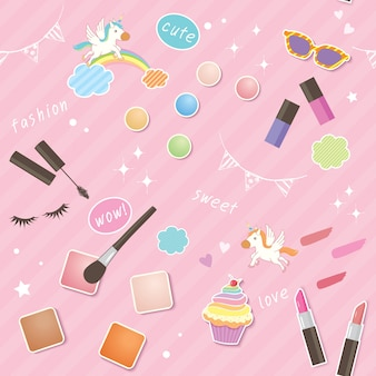 Cosmetics cute pattern