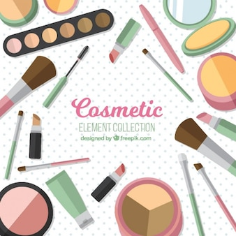 Cosmetics equipment background