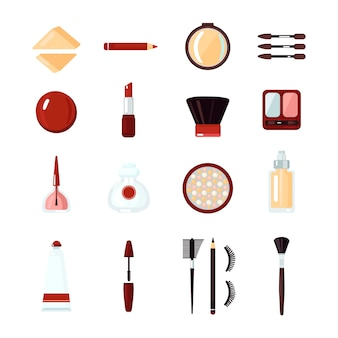 Cosmetics icon set