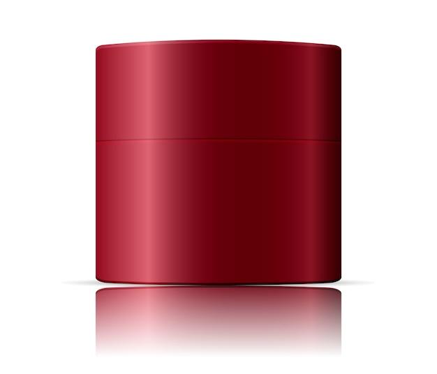 Cosmetics jar mockup template. vector illustration