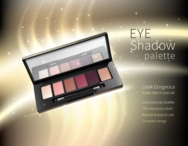 Cosmetics makeup realistic advertisement