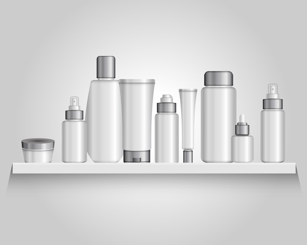 Cosmetics packaging tubes composition