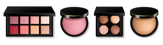 Cosmetics and powder blush collection