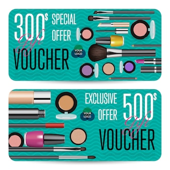 Cosmetics shop grand opening prepaid gift coupon