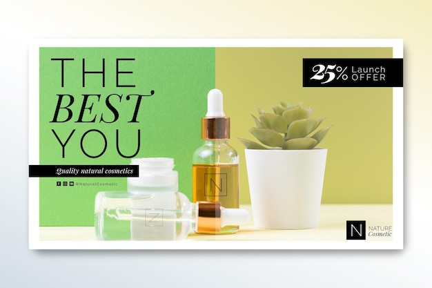 Cosmetics store banner template