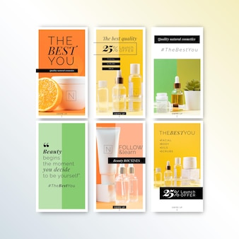Cosmetics store instagram stories template