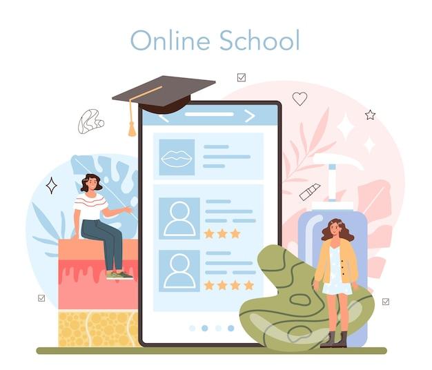 Cosmetologist online service or platform